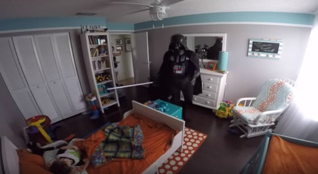 Wakes Up Son Dressed As Darth Vader