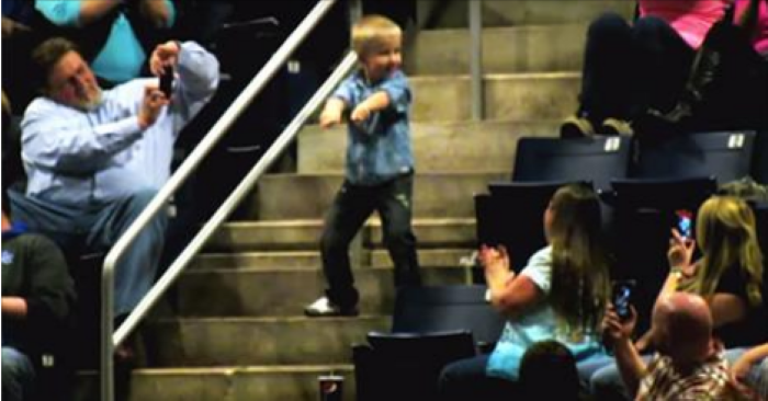 This Kid Starts Dancing At A Concert. Seconds Later Everyone Is Watching Him!