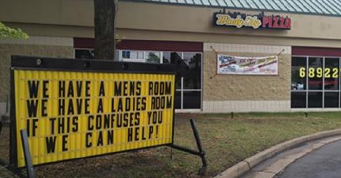 This Controversial Sign At A Virginia Pizza Restaurant Has Got People Talking!