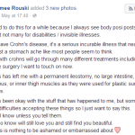 Crohns Disease FB post