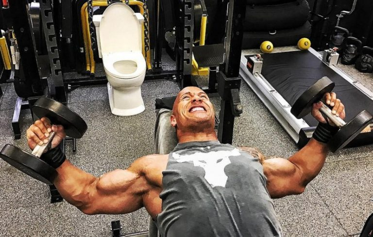 The Messed-Up Reason Why There's A Toilet Next To The Rock's Squat Rack