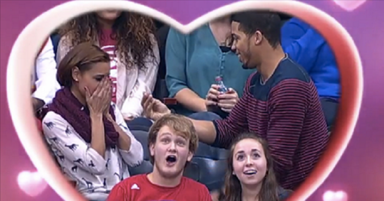 Kiss-Cam Proposal Goes Hideously Wrong!