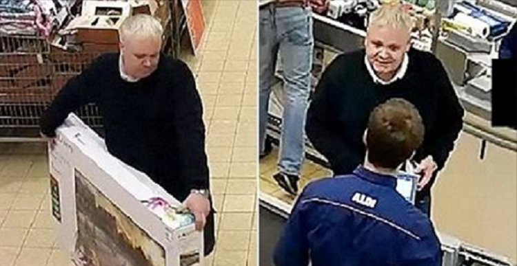 Smiling Conman Gets $400 Refund On Television He Simply Took Off The Shelf!