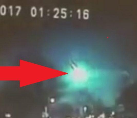 Green Fireball Meteor
