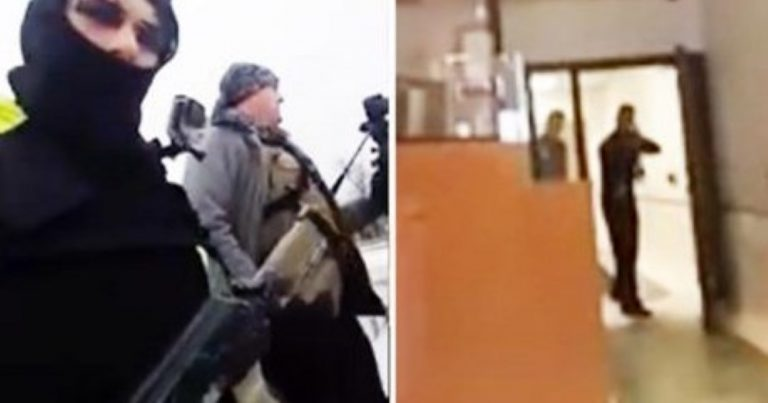 'Open Carry' Gun Advocates Walk Into Police Station In Ski Masks Brandishing AK-47s